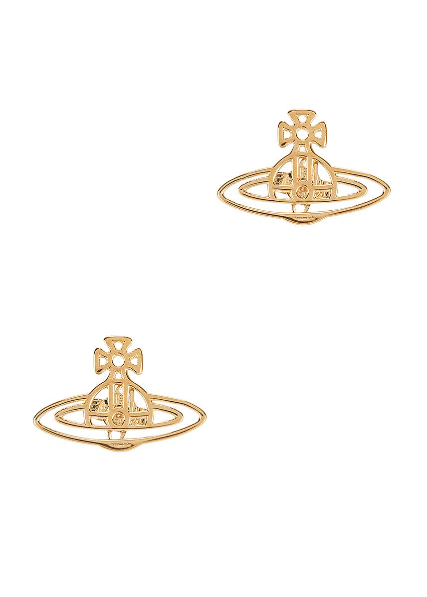 34cdcd814 Thin Lines gold-tone stud earrings. New Season. Vivienne Westwood