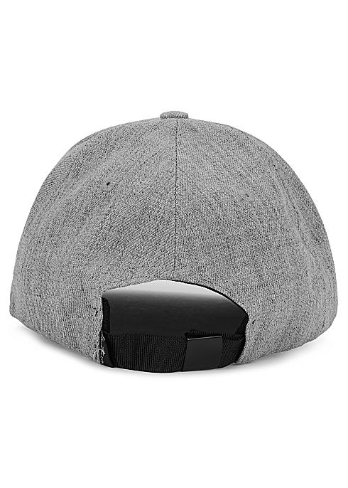 ac4be753a67fd Stone Island Grey logo-embroidered mélange gabardine cap - Harvey ...