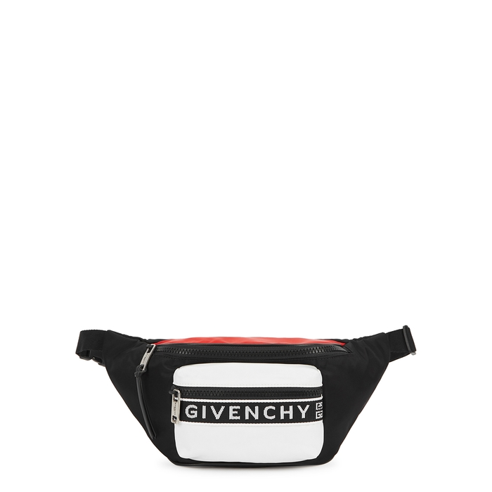 Givenchy Black Nylon Belt Bag