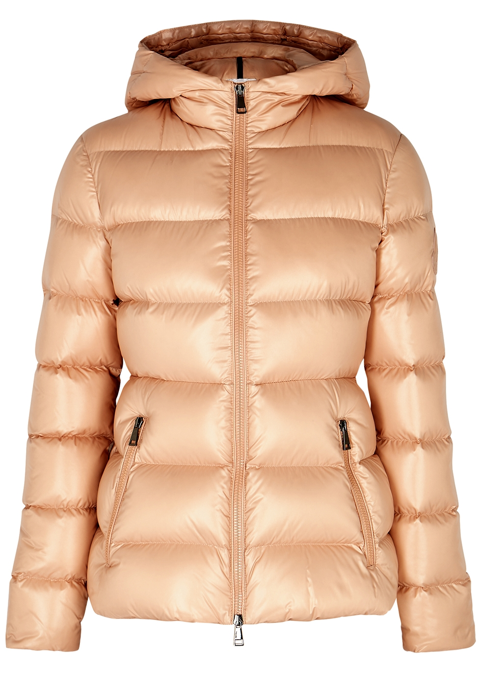 Rhin peach quilted shell jacket
