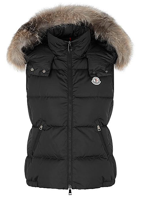 huge selection of 96bad a35fa Moncler Gallinule black shell gilet - Harvey Nichols