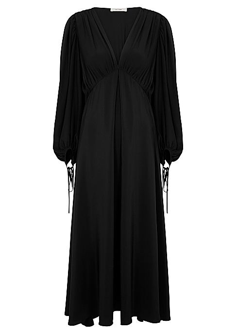 f373628a8 THE ROW Sante black silk maxi dress - Harvey Nichols