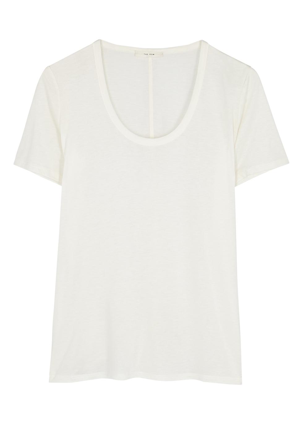Stilton white stretch-jersey top