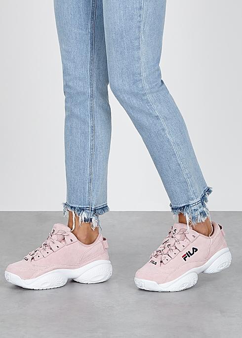 run shoes great deals top fashion Fila Provenance pink suede sneakers - Harvey Nichols