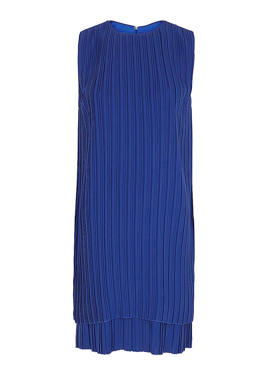 31604058d Blue plissé crepe dress Blue plissé crepe dress. New Season. Victoria, Victoria  Beckham