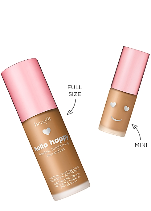 a5f3a681784 Benefit Hello Happy Flawless Brightening Foundation Travel Size 10ml ...
