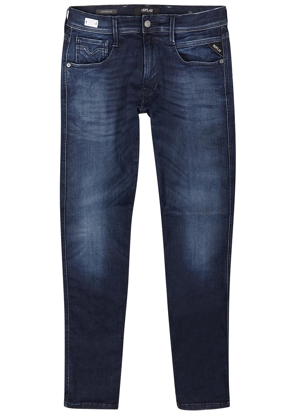 Anbass Hyperflex blue slim-leg jeans