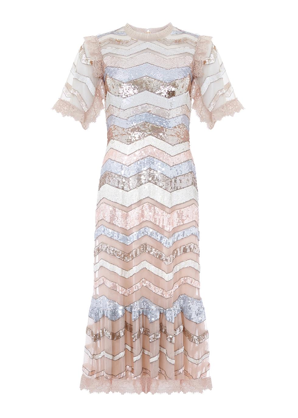 Alaska sequin-embellished tulle dress