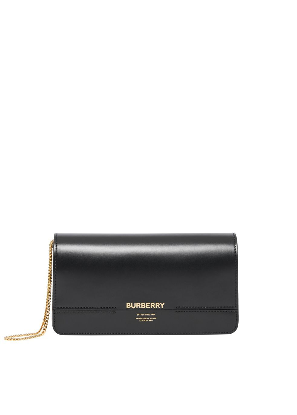 Leather Grace Clutch by Burberry