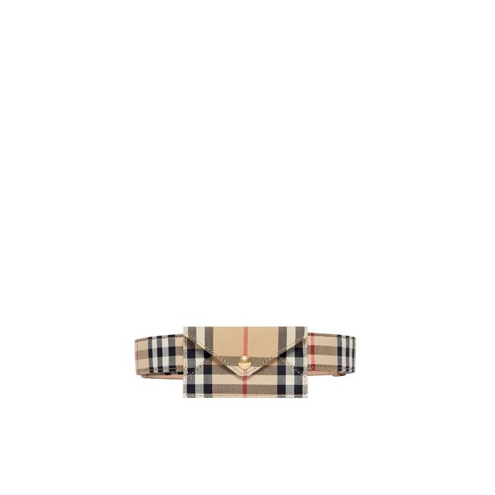 Burberry Envelope Detail Vintage Check Cotton Belt