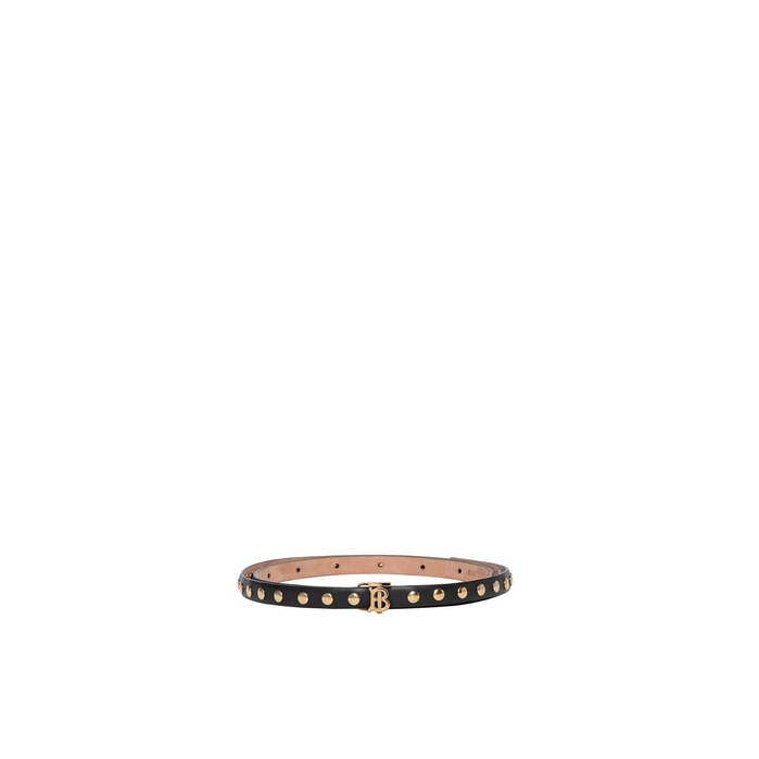 Burberry Monogram Motif Studded Leather Belt