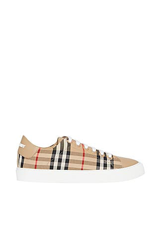b57ca7235 Vintage check and leather sneakers Vintage check and leather sneakers.  Burberry