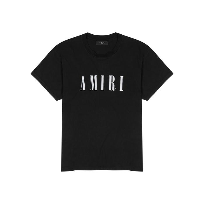 Amiri T-shirts Black logo-print cotton T-shirt