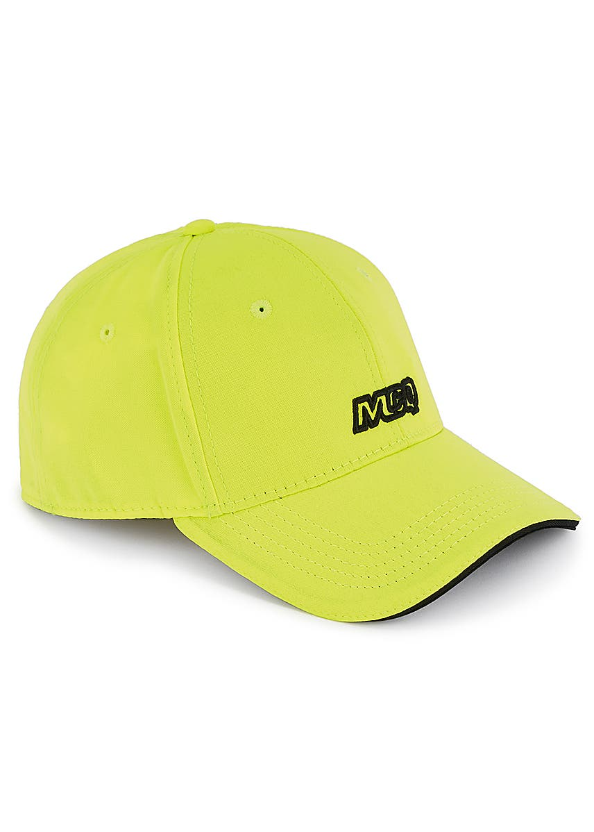 d4fc234cb16501 Neon yellow embroidered cotton cap ...