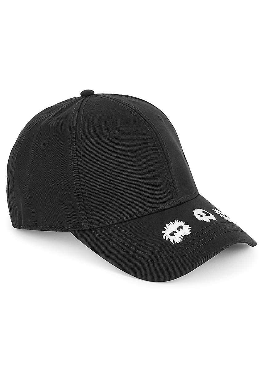 e7c17cc588dd46 Black embroidered cotton cap. New Season. McQ Alexander McQueen. Black  embroidered cotton cap. £70.00. GG Supreme tiger-print cap. New Season.  Gucci