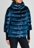 Midnight blue quilted velvet jacket - Herno