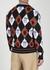 Navy patterned wool cardigan - Marni