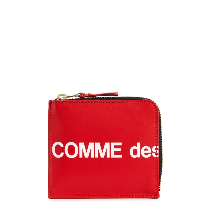 Comme Des GarÇOns Red Leather Coin Purse