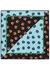 Blue and black floral-print silk scarf - Diane von Furstenberg