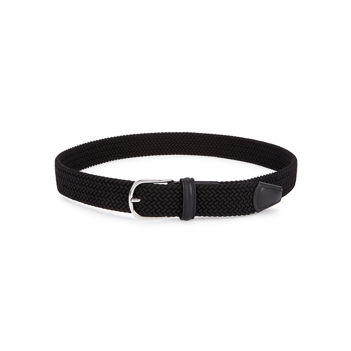 Anderson's Black Woven Canvas Belt