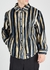 Margay striped fleece overshirt - Napa by Martine Rose