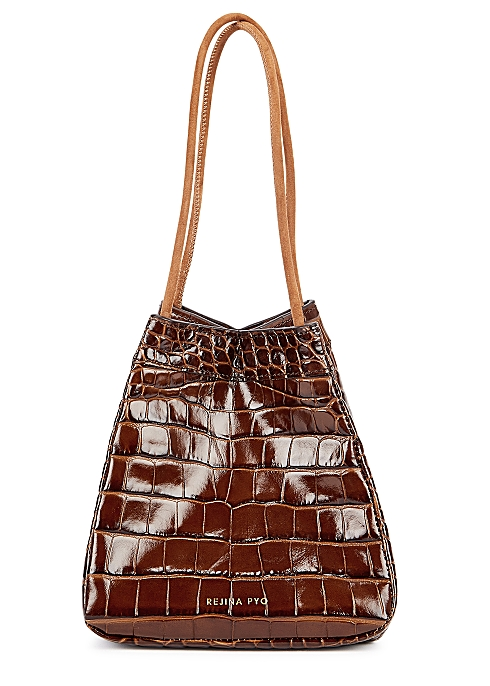 yet not vulgar really cheap great variety models Rejina Pyo Rita crocodile-effect leather top handle bag ...