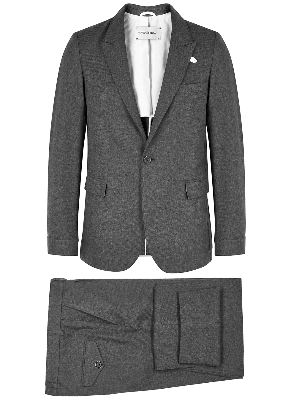 Grey cotton suit