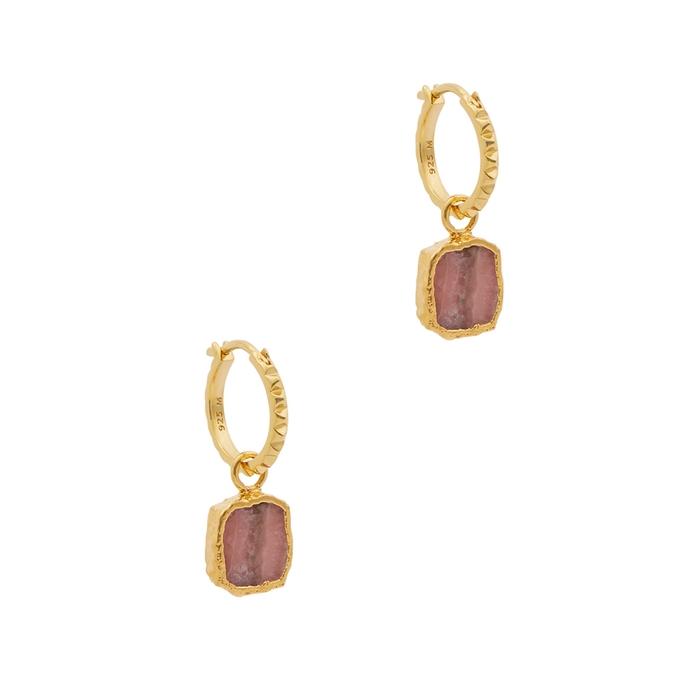 Missoma Rhodochrosite 18Kt Gold Vermeil Hoop Earrings