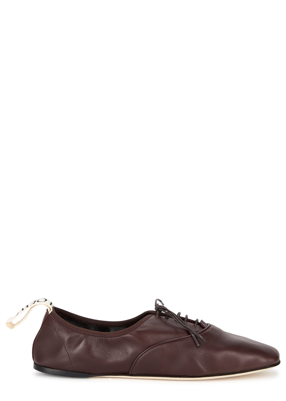 Loewe Burgundy leather Derby shoes