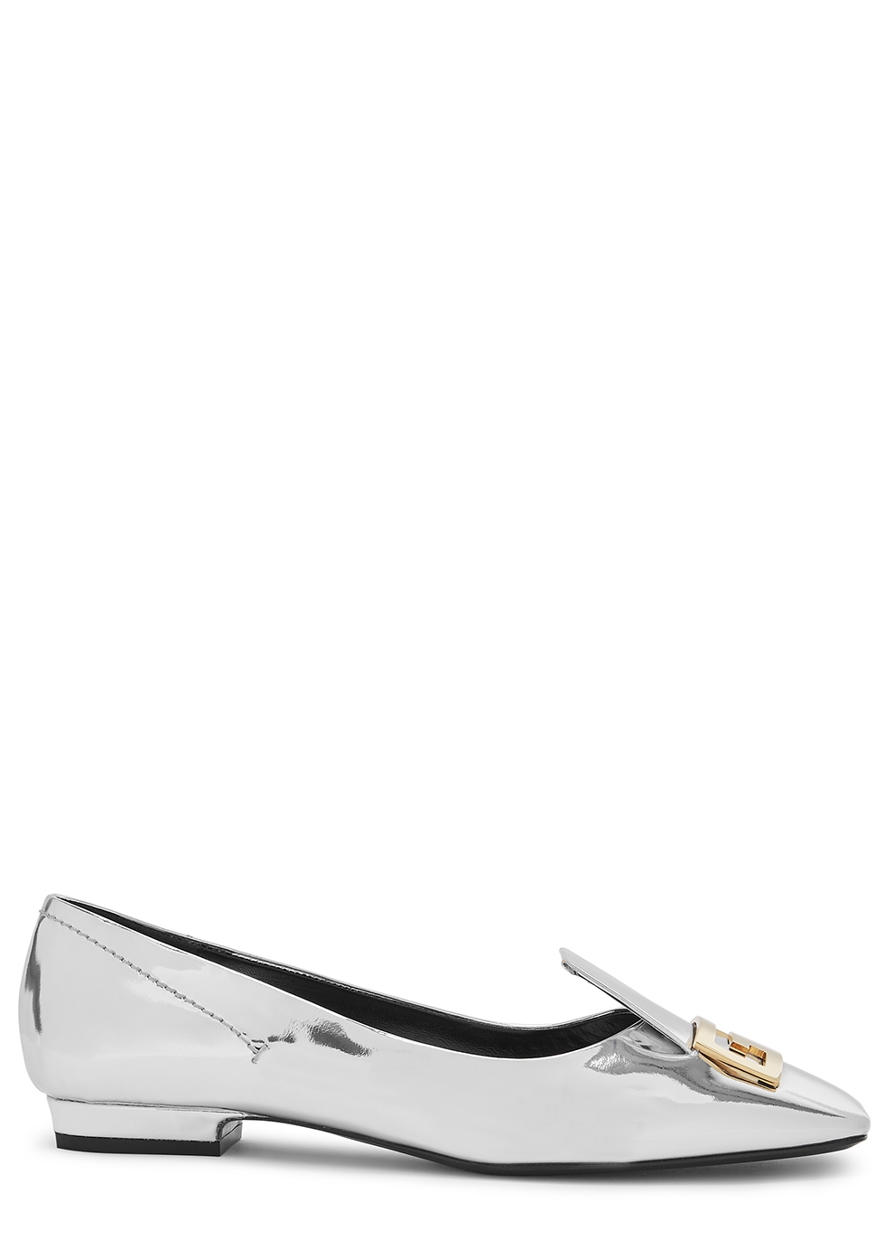 Mystic silver leather loafers