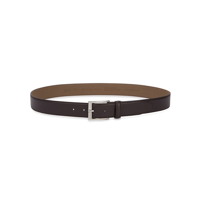 BOSS Ellotyo Brown Leather Belt