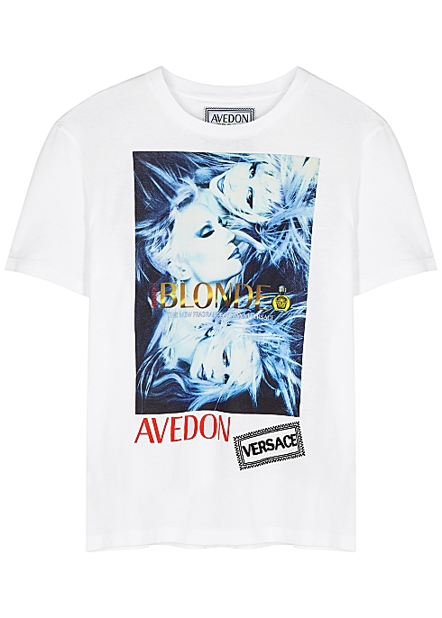 5d98d9c0 Versace X Avedon printed cotton T-shirt - Harvey Nichols