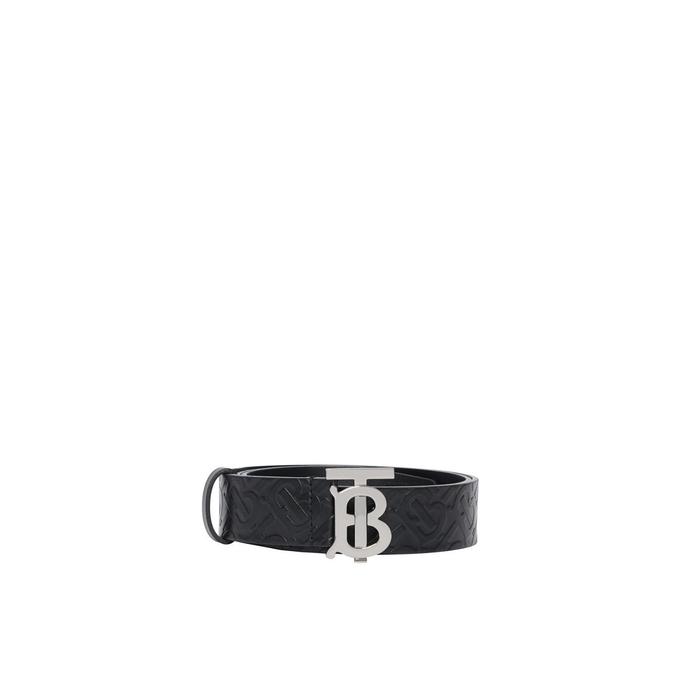 Burberry Monogram Motif Monogram Leather Belt