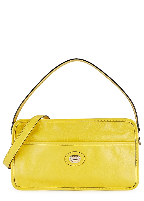 Morpheus Yellow Leather Shoulder Bag