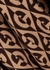 Brown logo-intarsia wool-blend poncho - Gucci