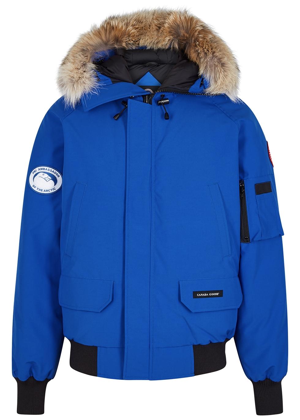 Chilliwack PBI blue fur trimmed shell coat