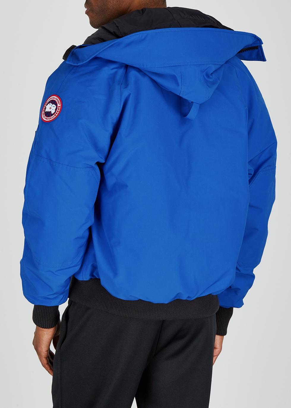 Canada Goose Chilliwack PBI blue fur trimmed shell coat