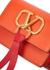 VRing mini orange leather shoulder bag - Valentino Garavani