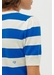 Blue striped jeanne puff sleeve t-shirt - Chinti & Parker