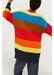 Rainbow riviera stripe chunky knit cardigan - Chinti & Parker