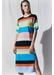 Rainbow julia striped cotton midi dress - Chinti & Parker