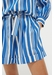 Blue striped parasol shorts - Chinti & Parker