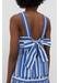 Blue striped parasol tie back top - Chinti & Parker