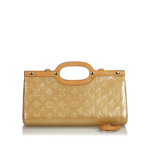 Louis Vuitton Brown Satchel In Beige