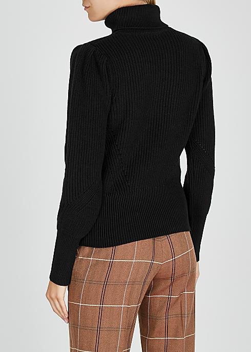 modern style purchase cheap online store Frame Denim Black roll-neck cotton jumper - Harvey Nichols