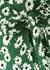 Florence green floral-print wrap dress - Rails