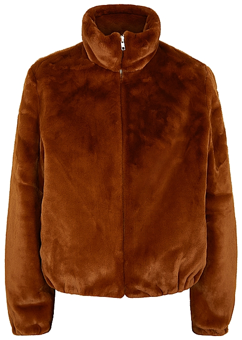 58694902a LouLou brown faux fur bomber jacket
