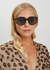 DiorDirection2 brown oval-frame sunglasses - Dior