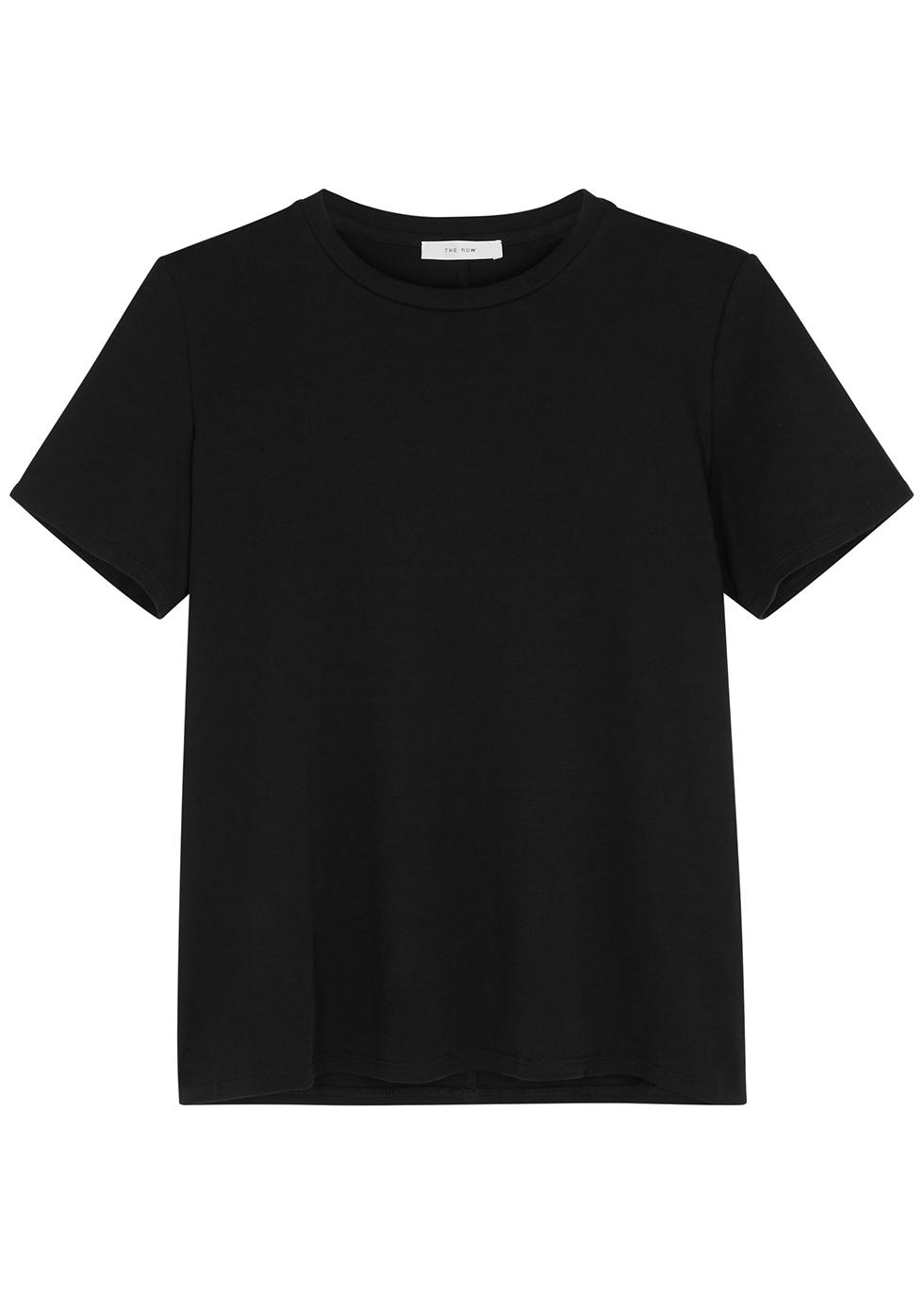 Wesler black cotton T-shirt