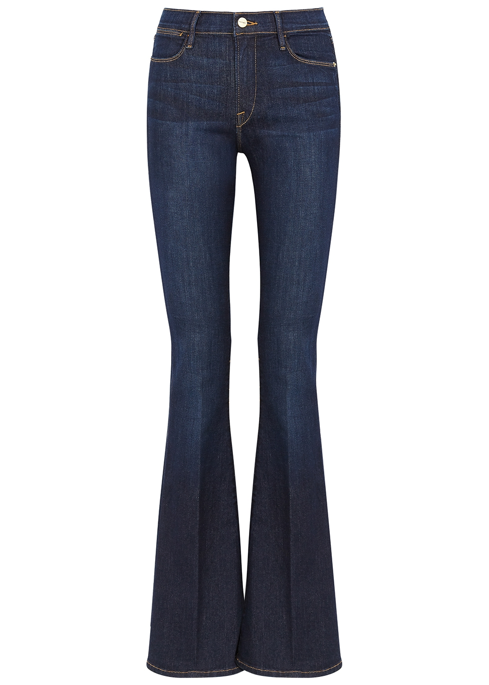 Le High Flare dark blue jeans